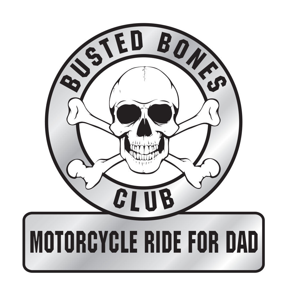 "Busted Bones Decal 3"" Round w/ Square Base"