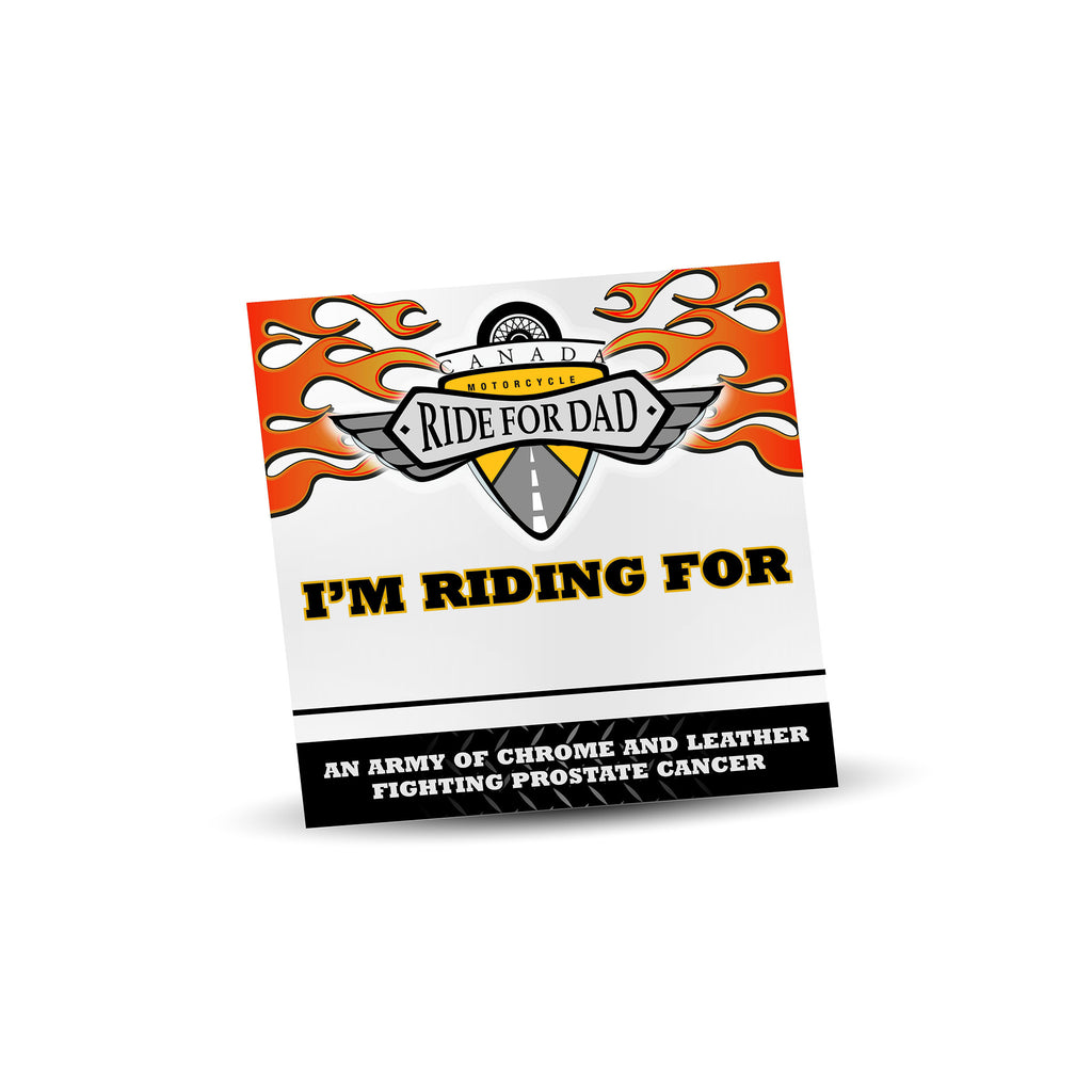 "MRFD ""I'm Riding For"" Decal"