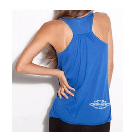 Ladies Royal Blue WRFD Tattoo Flowy Tank