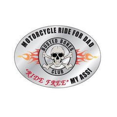 Busted Bones Reflective Helmet Decal