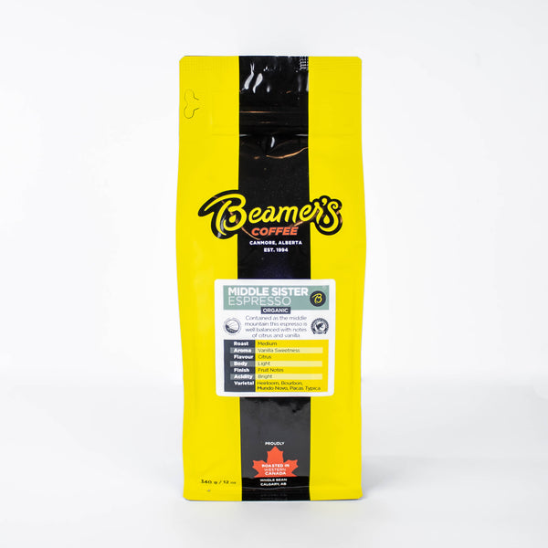 Middle Sister Espresso - Certified Organic (340g) - Beamer's Coffee