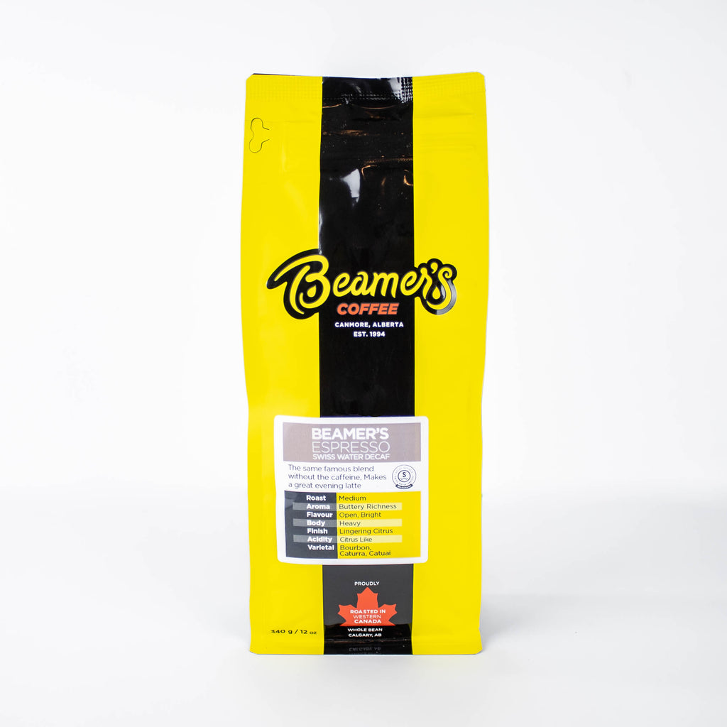 Beamer's Espresso – Certified Swiss Water Decaf Process (340g) - Beamer's Coffee