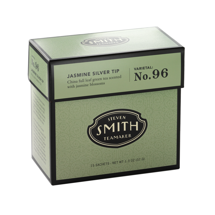 Jasmine Silver Tip - Full leaf green tea from China scented with jasmine blossoms - Beamer's Coffee