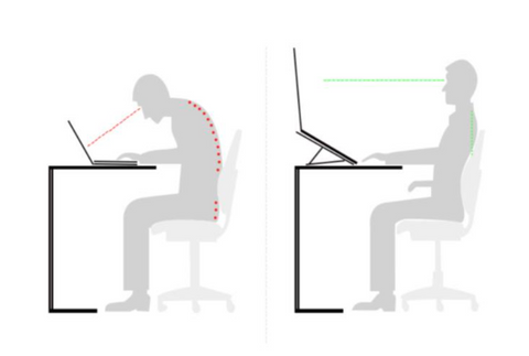 Laptop stand for better posture