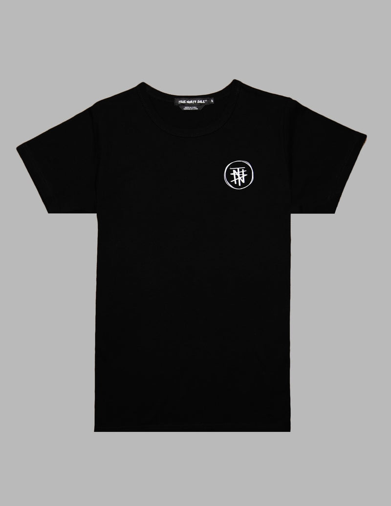 White Print Black T-Shirt DIFTC - True North Sole Streetwear
