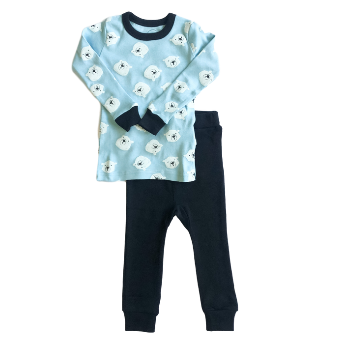 Polar Bear Print Pajama Set