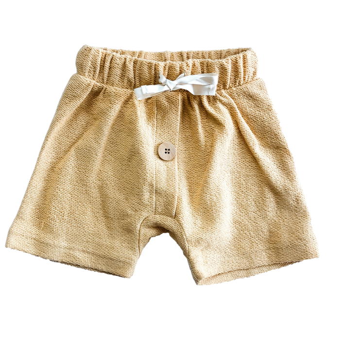 Yellow Terry Cloth Shorts