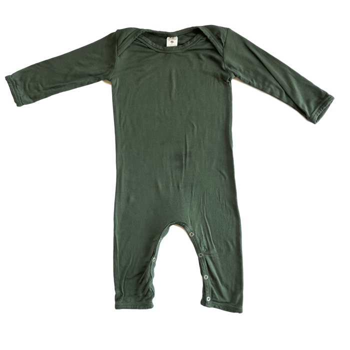 Long Sleeve Dark Green Jumpsuit