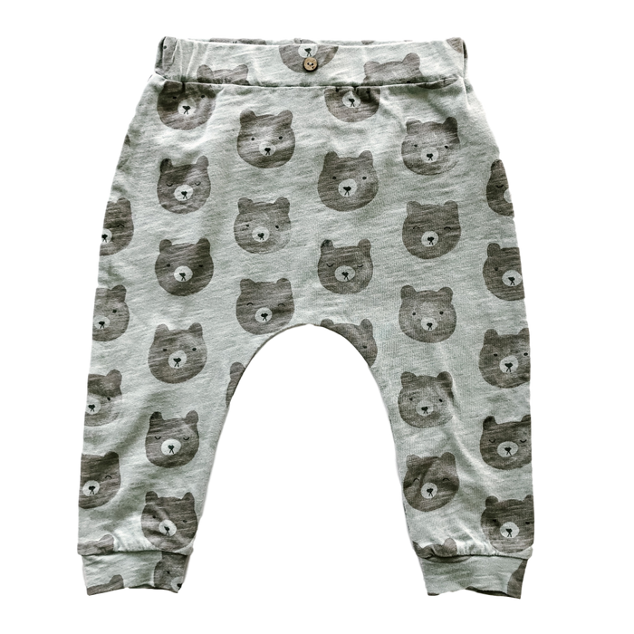 Bear Print Slouch Pants