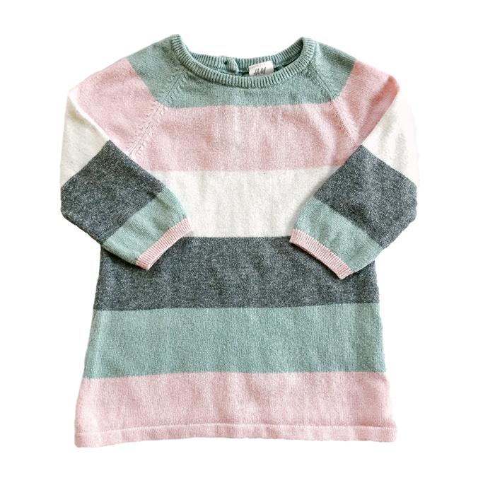 Pastel Stripe Sweater Dress