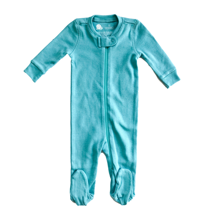 Turqouise Blue Zip Pajamas