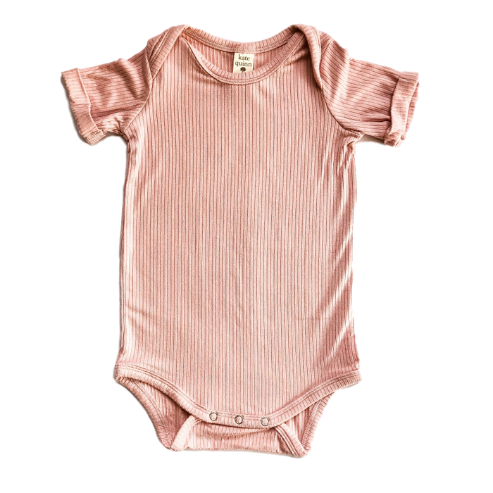 Ribbed Onesie with Rolled Sleeve