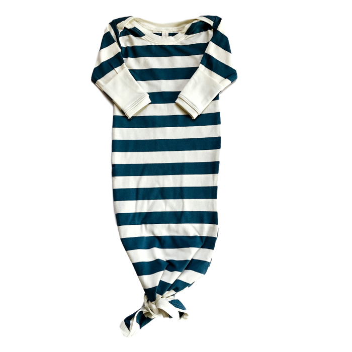 Stripe Knotted Sleep Gown