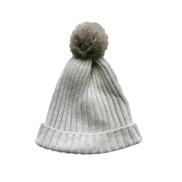 Light Grey Ribbed Hat