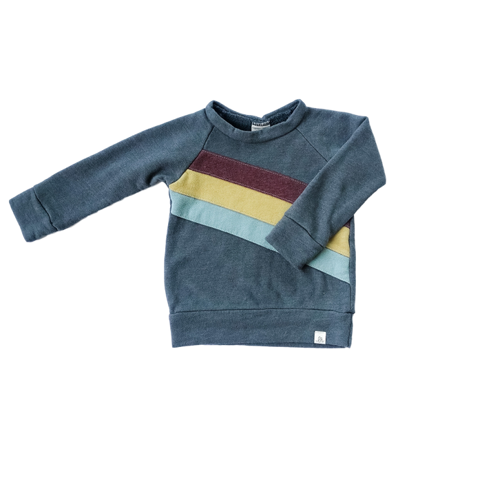 Diagonal Colorblock Sweatshirt