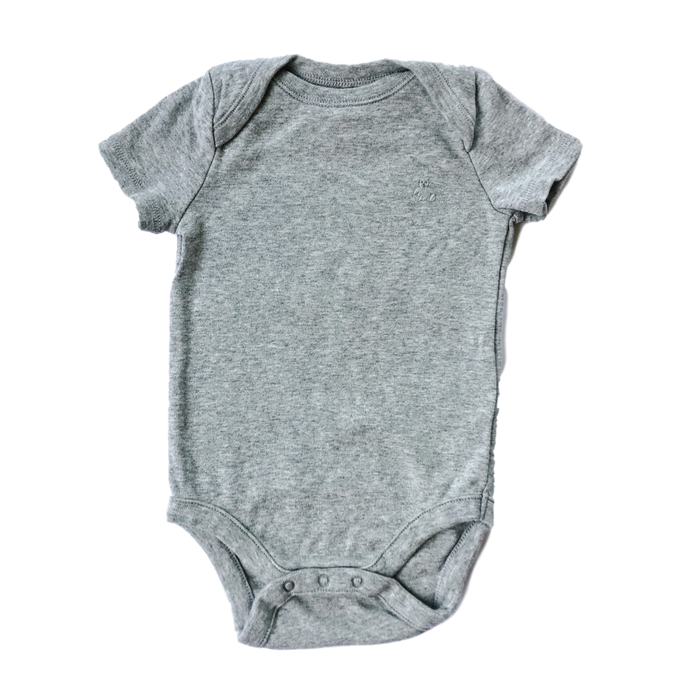 Short Sleeve Grey Cotton Onesie