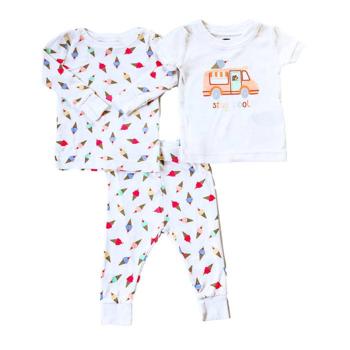 Three-Piece Ice Cream Pajama Set