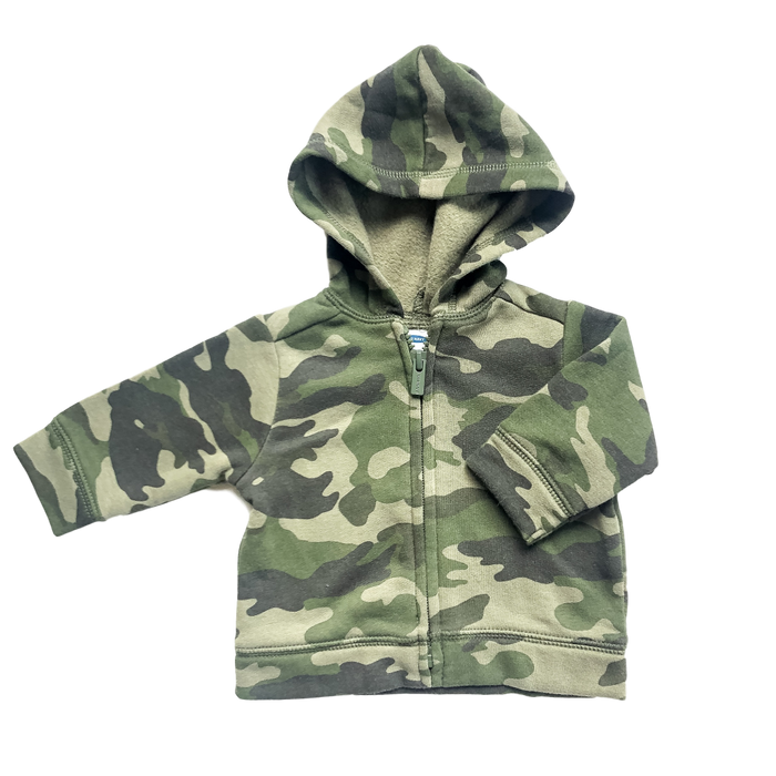 Camo Zip Sweatshirt