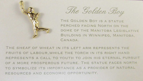 Golden Boy Lapel Pin | Épinglette ''Golden Boy''
