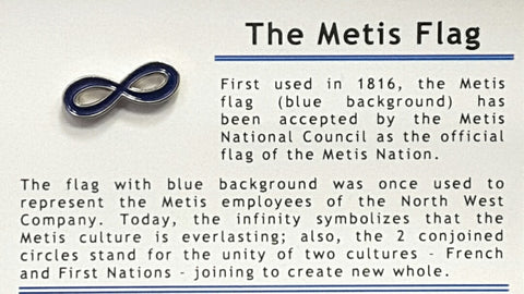 Blue Metis Pin (no background) | Broche bleue Métis