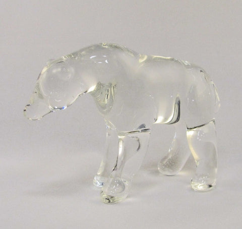 Large Glass Bear | Verre grand ours