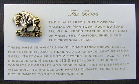 Bison Lapel Pin | Épinglette Bison