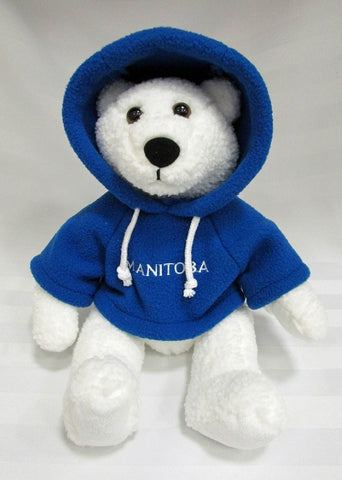 Polar Bear with Blue Hoodie | Ours polaire avec capuche - Bleu