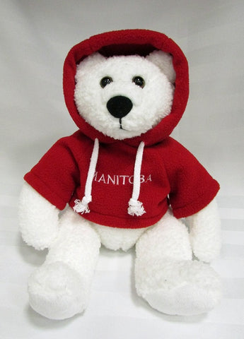 Polar Bear with Red Hoodie | Ours polaire avec capuche - Rouge