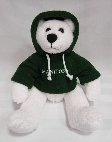 Polar Bear with Green Hoodie | Ours polaire avec capuche - Vert