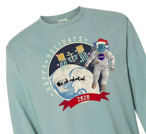 """NASA 2020 Holiday"" Long Sleeve Tshirt - Adult"