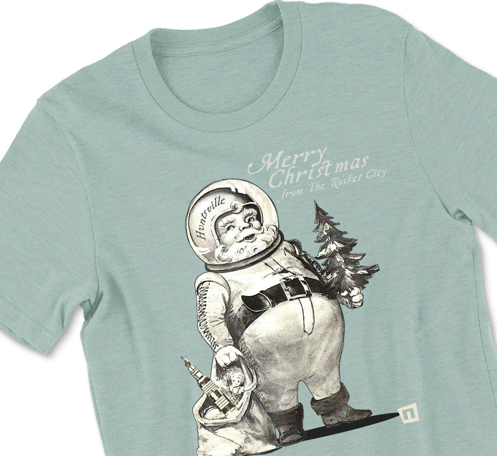 Astro Santa Rocket City Tshirt