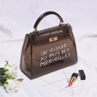Clear Transparent PVC Shoulder Bags Women Candy Color Women Jelly Bags Purse Solid Color Handbags - Yard Agri Supply