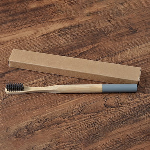 1pc Eco friendly Bamboo Toothbrush Medium Bristles Biodegradable Plastic-Free Oral Care Adults Toothbrush Bamboo Handle Brush