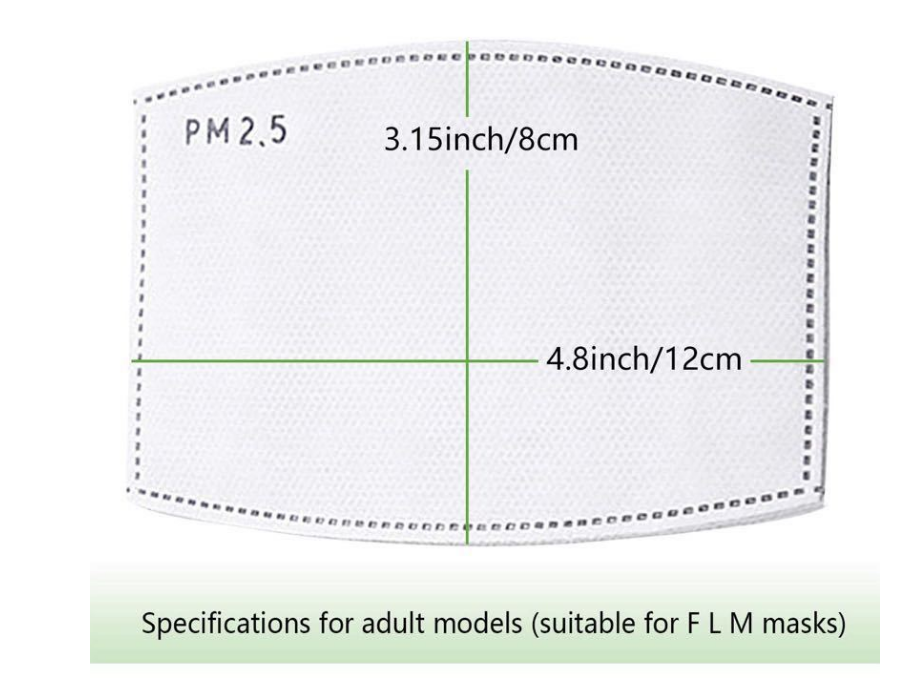 PM2.5 replaceable mask filter element