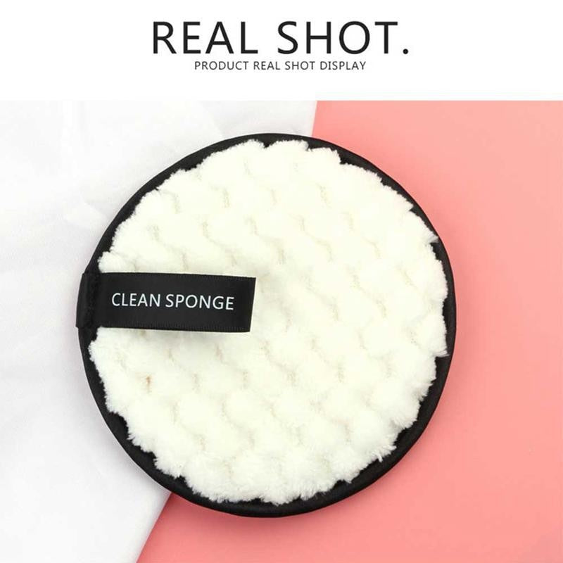 4Pcs Microfiber Cloth Pads Facial Makeup Remover Puff Face Cleansing Towel Reusable Cotton Double Layer Nail Art Cleaning Wipe
