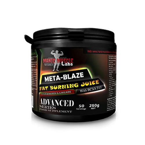 Manic Muscle Labs Meta-Blaze Fat Burning Juice - Strawberry & Limeade