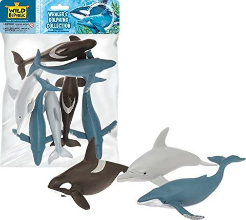 Whale & Dolphin Figurine Polybag