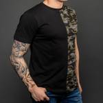 Arsenal Men's Half Camo Logo Tee, Black and Camo