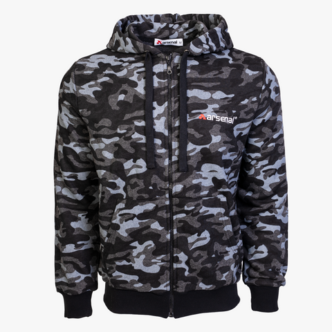 Arsenal Men's Full-Zip Hoodie, Black Camo