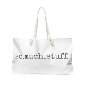 So Much Stuff Tote in Gray