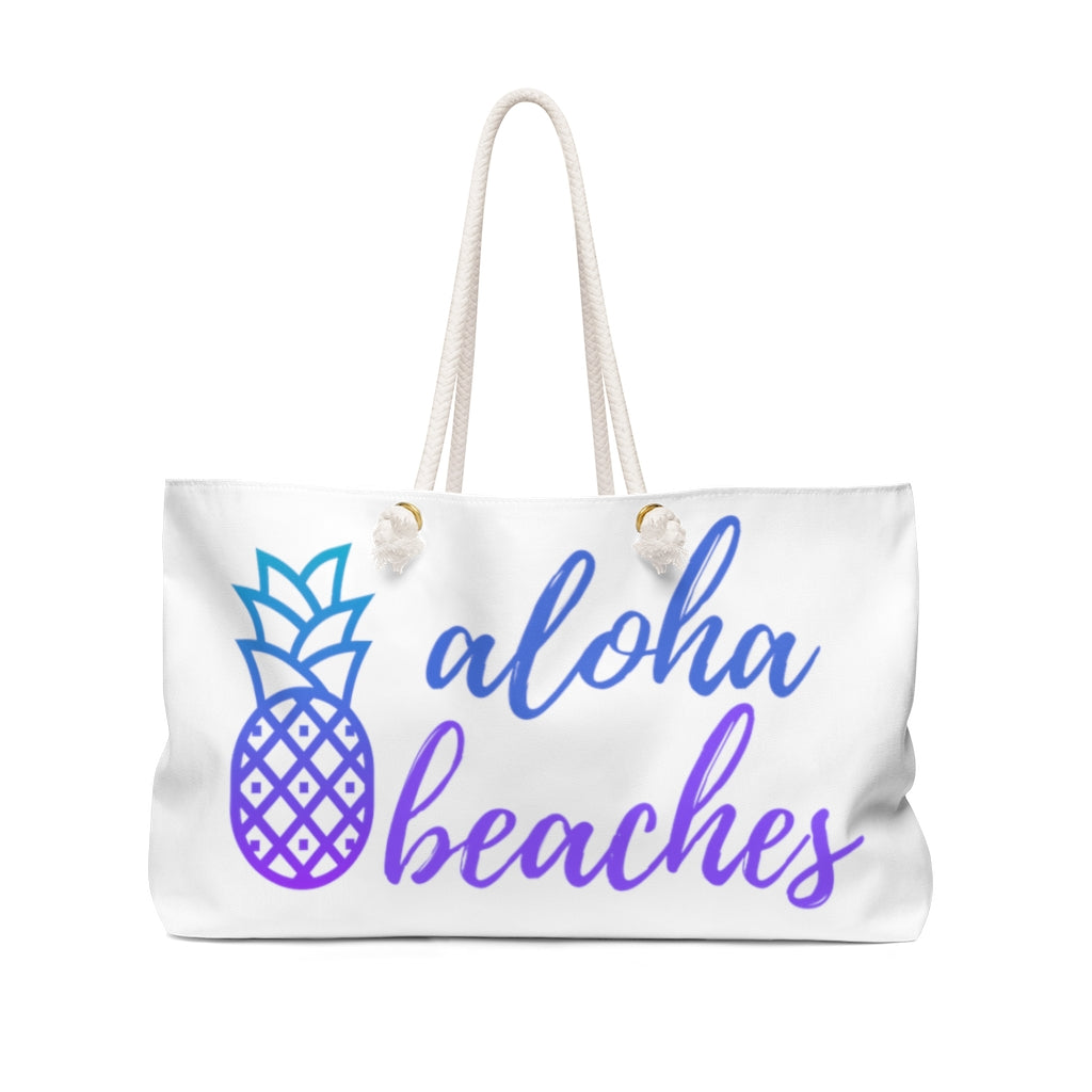 Aloha Beaches Tote back