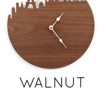 Load image into Gallery viewer, Washington Natural Bamboo Wall Clock - Walnut