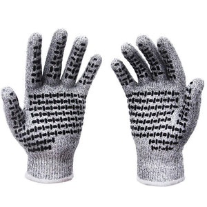Professional Anti-cut Level 5 Cut-Resistant Non-slip Working Kitchen Gloves - as the picture ao