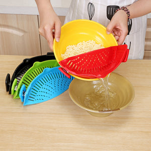 Kitchen Clip-On Pot Strainer