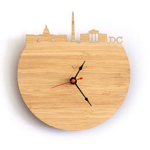 Washington Natural Bamboo Wall Clock