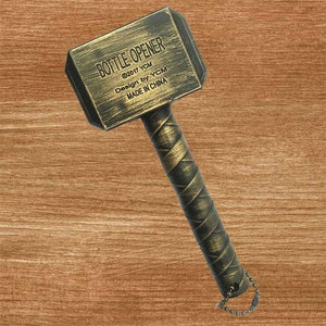 Thor Hammer Bottle Opener - Gold