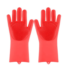 Load image into Gallery viewer, Lime Decor Dishwashing Scrubber Gloves - Red