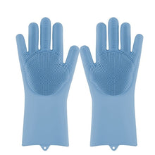 Load image into Gallery viewer, Lime Decor Dishwashing Scrubber Gloves - Blue