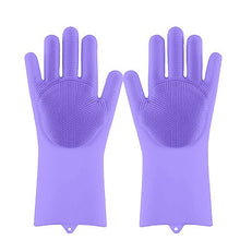 Load image into Gallery viewer, Lime Decor Dishwashing Scrubber Gloves - Lightpurple