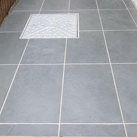 grey slate paving patio